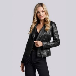 Dámská bunda, černá, 93-09-608-1-M, Obrázek 1