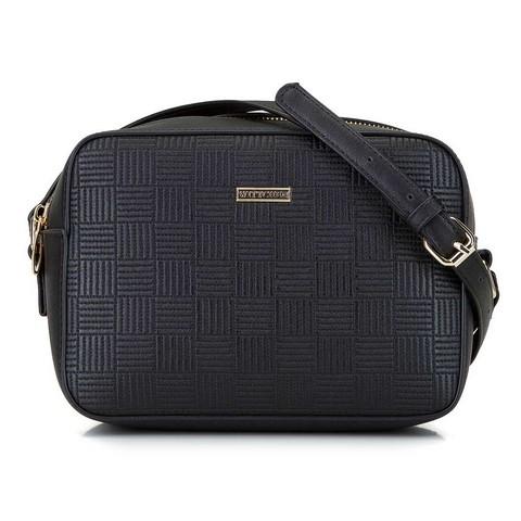 Kožená kufříková kabelka s přezkou