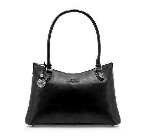 Dámská kabelka, černá, 35-4-051-2, Obrázek 1