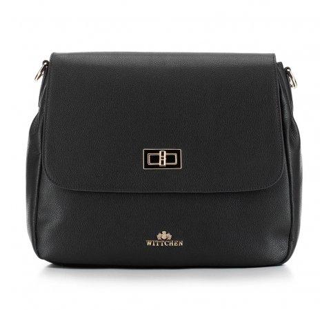 Dámská kabelka, černá, 87-4E-433-7, Obrázek 1