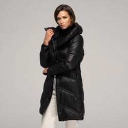 Dámská péřová nadměrná bunda, černá, 91-9D-404-1-2XL, Obrázek 1