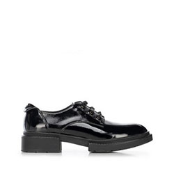 Dámské boty z lakované kůže s plochým podpatkem, černá, 91-D-952-1-39, Obrázek 1