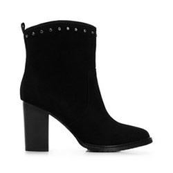 Dámské kotníkové boty s kamínky, černá, 91-D-959-1-37, Obrázek 1