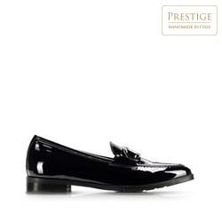 Dámské kožené lakované boty, černá, 91-D-100-1-39_5, Obrázek 1