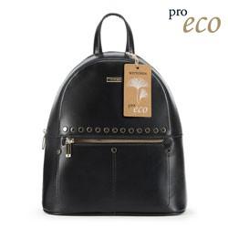 Dámský batoh z ekologické kůže, černá, 91-4Y-251-1, Obrázek 1