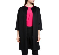 Dámský kabát, černá, 84-9W-100-1-2X, Obrázek 1
