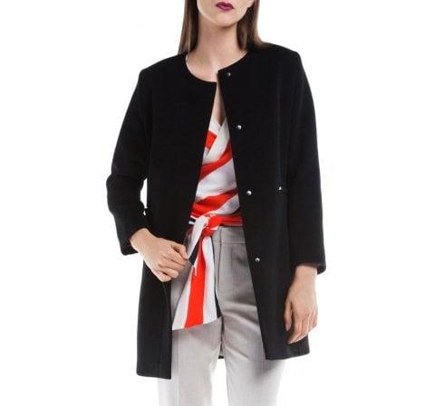 Dámský kabát, černá, 84-9W-101-1-S, Obrázek 1