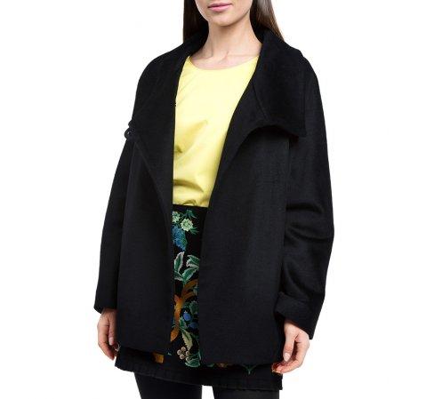 Dámský kabát, černá, 84-9W-102-1-S, Obrázek 1