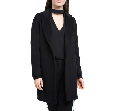 Dámský kabát, černá, 84-9W-103-9-2X, Obrázek 1