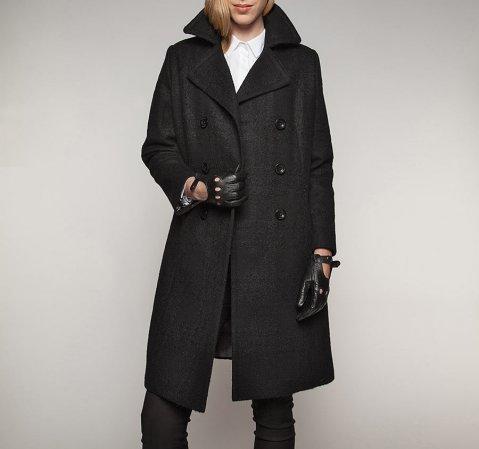 Dámský kabát, černá, 85-9W-103-1-S, Obrázek 1
