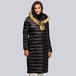 Dámský kabát, černá, 93-9D-408-1-M, Obrázek 1