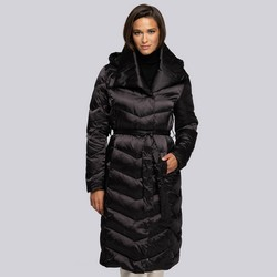 Dámský kabát, černá, 93-9D-407-1-L, Obrázek 1