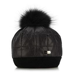Dámská čepice, černá, 89-HF-015-1, Obrázek 1