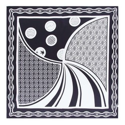 Hedvábný šátek, černá, 93-7D-S01-1, Obrázek 1