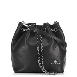 Kožená dámská kabelka, černá, 91-4E-607-1, Obrázek 1