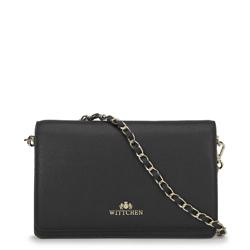 Kožená dámská kabelka, černá, 91-4E-617-1, Obrázek 1