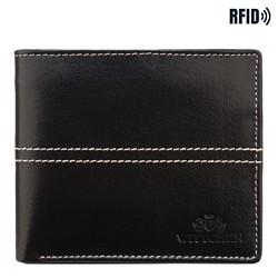Kožená pánská peněženka, černá, 14-1-119-L1, Obrázek 1