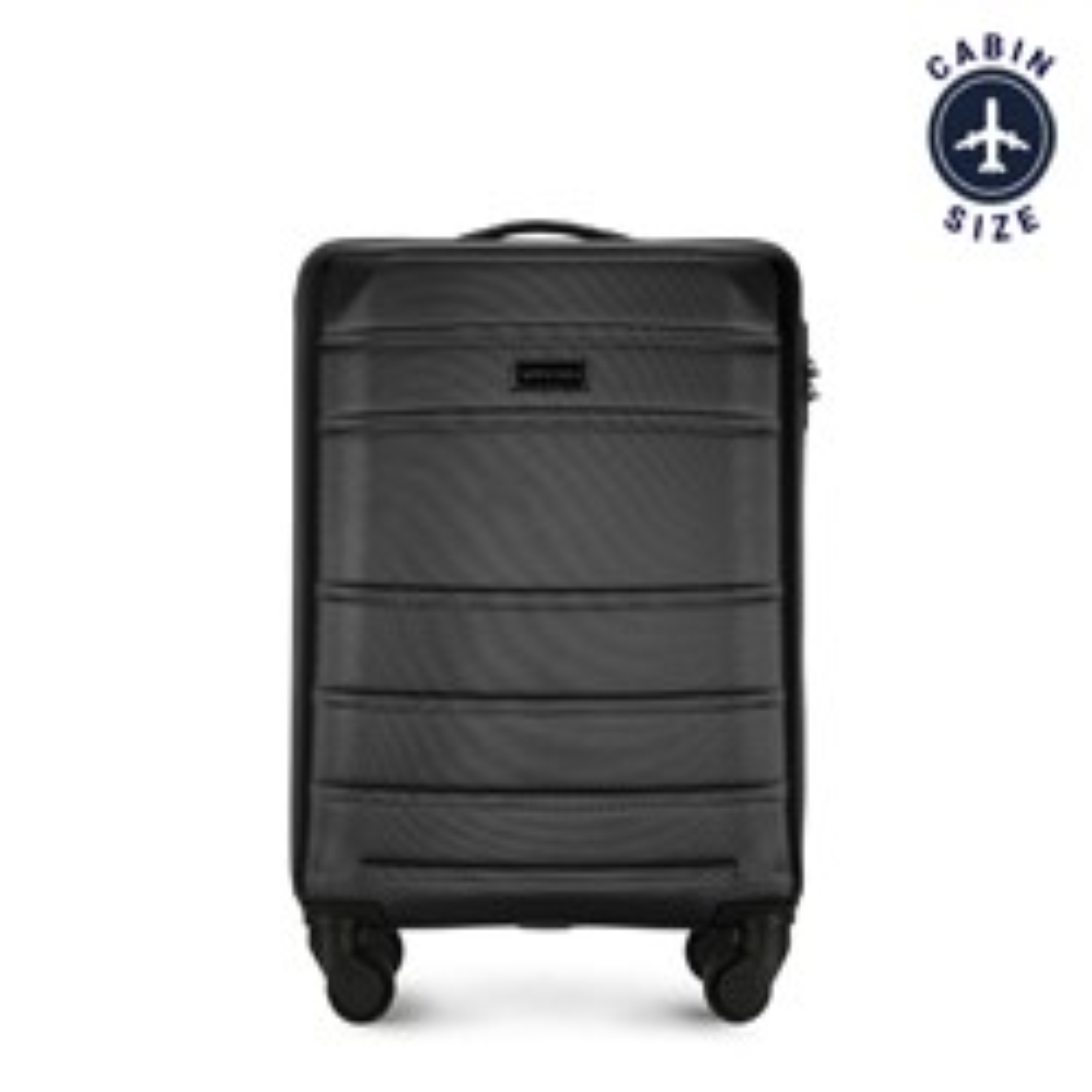 Kabinový cestovní kufr, černá, 56-3A-651-10, Obrázek 1