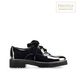 Lakované kožené dámské boty, černá, 91-D-103-1-36, Obrázek 1