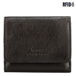 Malá dámská kožená peněženka, černá, 14-1-078-L11, Obrázek 1
