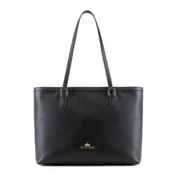 Nákupní taška, černá, 89-4-706-1, Obrázek 1