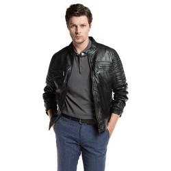 Pánská bunda, černá, 86-09-251-1-S, Obrázek 1