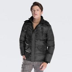 Pánská bunda, černá, 87-9D-452-8-S, Obrázek 1