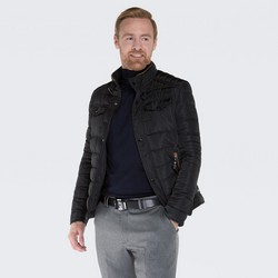 Pánská bunda, černá, 87-9N-152-1-XL, Obrázek 1