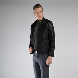 Pánská bunda, černá, 90-09-251-1-M, Obrázek 1
