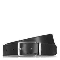 Pánský kožený opasek, černá, 90-8M-305-1-90, Obrázek 1