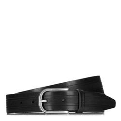 Pánský opasek, černá, 87-8M-315-1-90, Obrázek 1