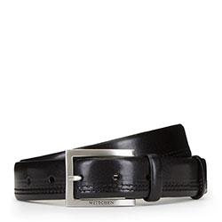 Pánský opasek, černá, 89-8M-315-1-90, Obrázek 1