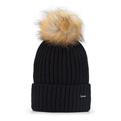 Dámská čepice, černá, 93-HF-013-1, Obrázek 1