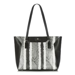 Dámská kabelka, černo-bílá, 88-4E-305-X1, Obrázek 1