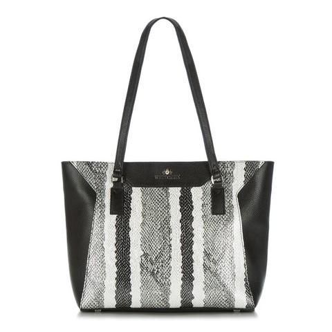 Dámská kabelka, černo-bílá, 88-4E-305-X2, Obrázek 1