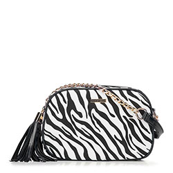 Dámská kabelka, černo-bílá, 89-4Y-300-X1, Obrázek 1