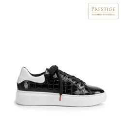 Dámské boty, černo-bílá, 93-D-300-1W-35, Obrázek 1