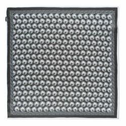 Hedvábný šátek, černo-bílá, 93-7D-S01-8, Obrázek 1