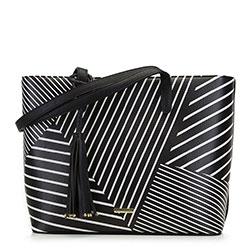 Dámská kabelka, černo-bílá, 89-4Y-406-1B, Obrázek 1