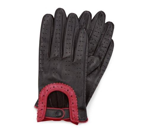 Dámské rukavice, černo-červená, 46-6L-292-12T-V, Obrázek 1