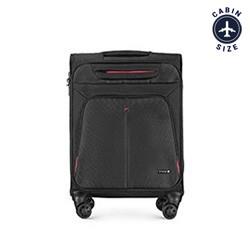 Kabinový cestovní kufr, černo-červená, 56-3S-631-13, Obrázek 1