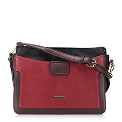 Dámská kabelka, černo-červená, 89-4Y-405-2, Obrázek 1