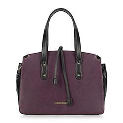 Dámská kabelka, fialovo-černá, 89-4Y-403-F, Obrázek 1