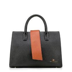 dámská kabelka, černo-hnědá, 88-4E-209-1, Obrázek 1