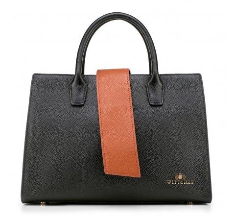dámská kabelka, černo-hnědá, 88-4E-209-7, Obrázek 1