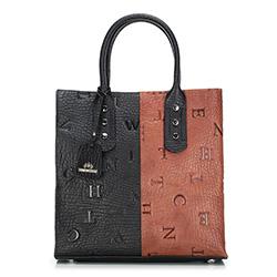 dámská kabelka, černo-hnědá, 88-4E-373-X1, Obrázek 1