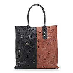 Dámská kabelka, černo-hnědá, 88-4E-374-X1, Obrázek 1