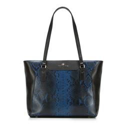 Dámská kabelka, černo-modrá, 88-4E-305-X2, Obrázek 1