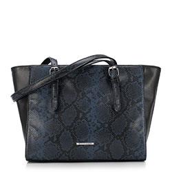 Dámská kabelka, černo-modrá, 89-4Y-409-1N, Obrázek 1