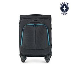 Kabinový cestovní kufr, černo-modrá, 56-3S-631-19, Obrázek 1